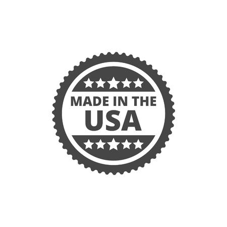 Vector 'Made in the USA' icon Illusztráció