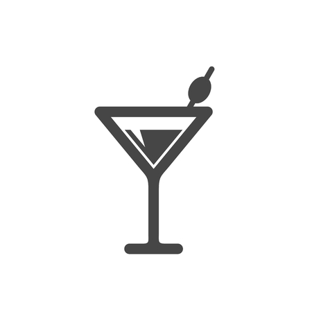Cocktail icon on white background Illustration
