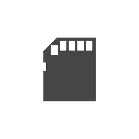 compact: Simple web icon in vector: compact memory card