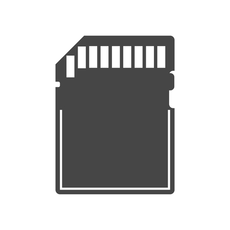 memory card: Simple web icon in vector: compact memory card