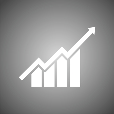 growth: Growth chart - vector icon