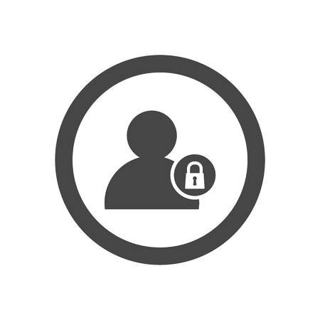 authenticate: Personal vector icon, User login or authenticate icon