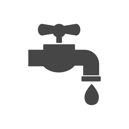 ooze: Faucet vector icon, Vector tap symbol Illustration