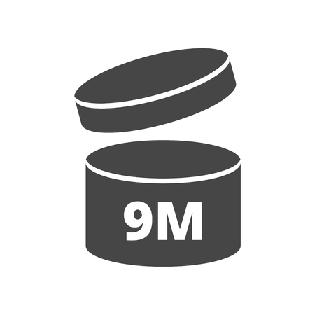 3 6 months: After opening use 9 months sign icon