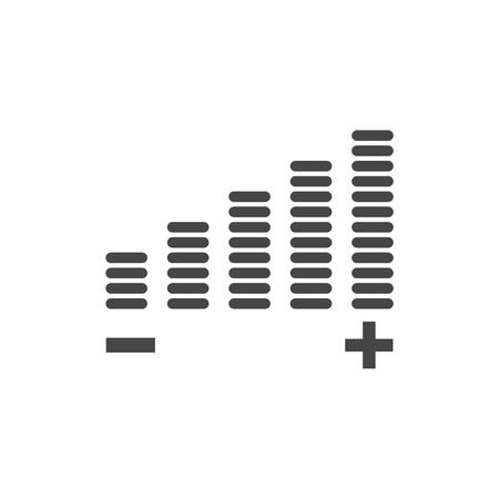 Volume-Symbol, Einstellung der Lautstärke Vektor-Symbol Vektorgrafik