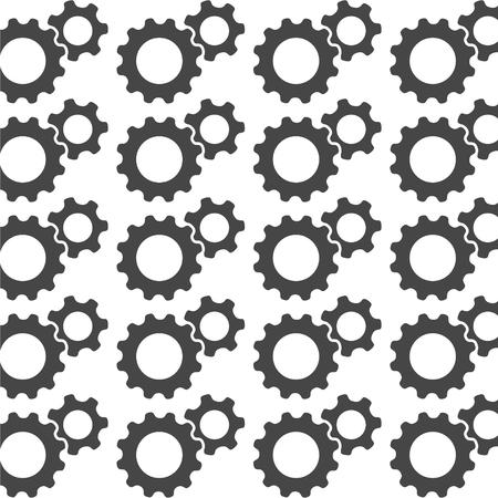 dag: Seamless texture gear wheels Illustration