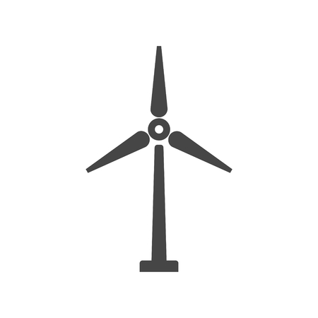 windfarm: Wind turbine icon, eco concept