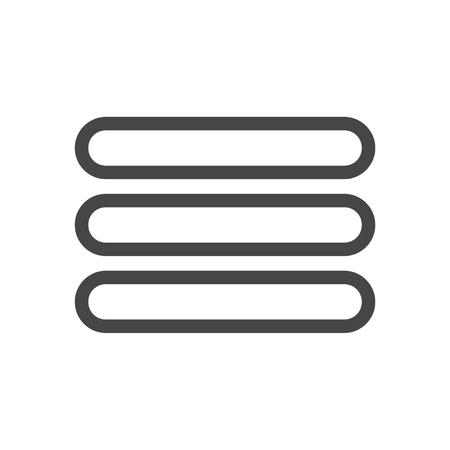 Menu vecteur icône, menu web icon Banque d'images - 68253696