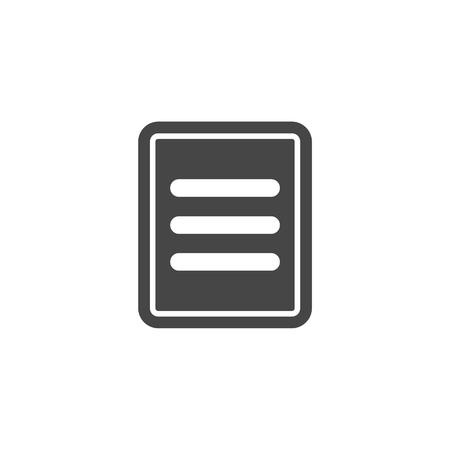 web portal: Menu vector icon, web menu icon