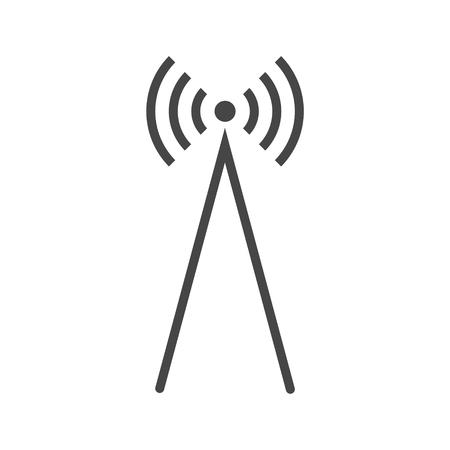 Antena Icono Vector, Transmisor icono