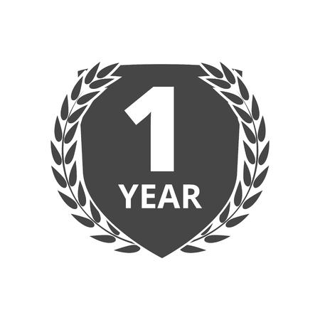 1 year: Laurel wreath 1 year
