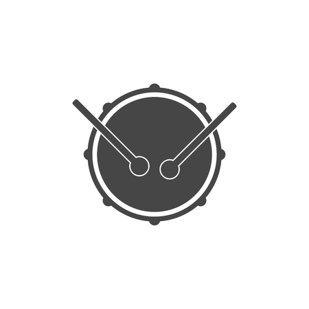 snare drum: Drum music instrument icon, Snare Drum Icon Illustration