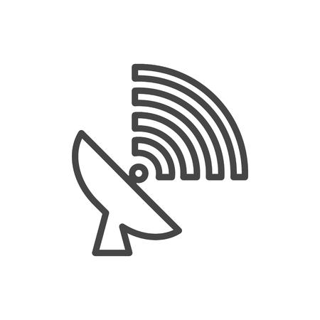 Satellite plate icon, satellite dish icon