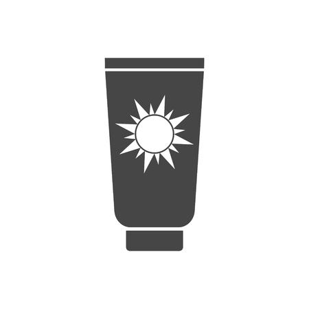sun cream: Sun Cream Icon, Sun protect vector flat icon Illustration