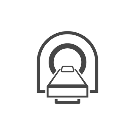 CT scan icon, CT scanner  イラスト・ベクター素材