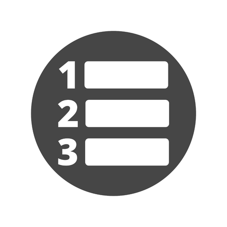 enumerated: Numbered list icon