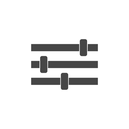 fader: Sliders or faders control board, Fader icon Illustration