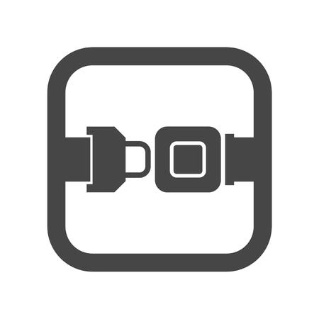Ceinture Seat ou ceinture de sécurité Icône Banque d'images - 68255865