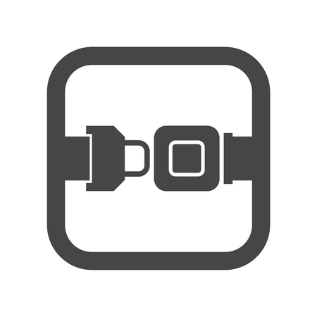 Seat Belt or Safety Belt Icon Ilustrace
