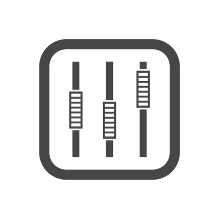 Sliders or faders control board, Fader icon Illustration