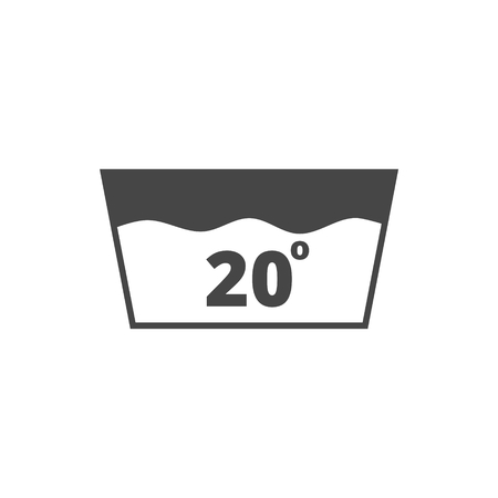 washbowl: Wash icon, Machine washable at 20 degrees symbol