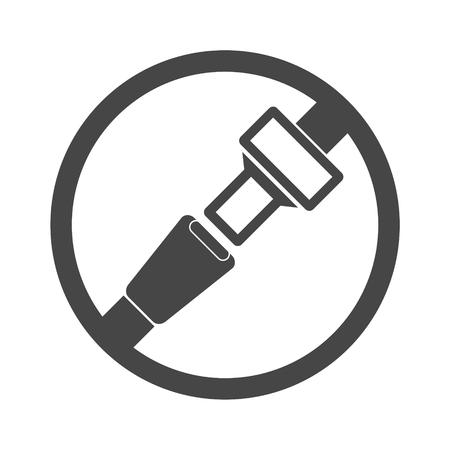 Seat Belt or Safety Belt Icon  イラスト・ベクター素材