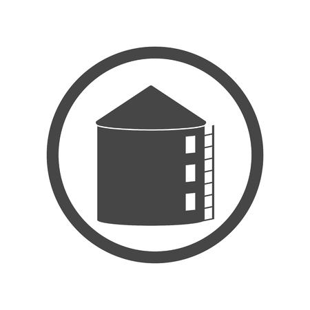 storage: Silos storage icon Illustration