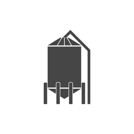Silos storage icon Illustration