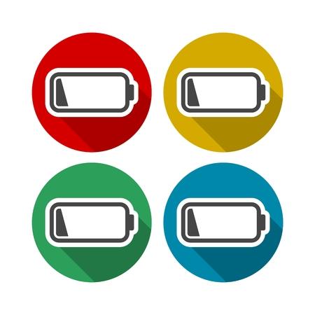 reflection of life: Battery icons set Illustration