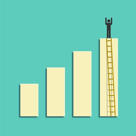 ladders: A competition concept, Business growth design with ladders