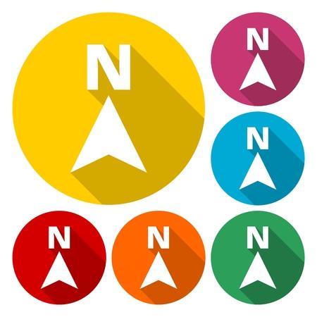 North Direction Arrow