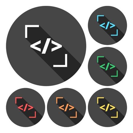 Coder icon color set