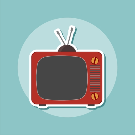 Television icon design, vector illustration Illustration