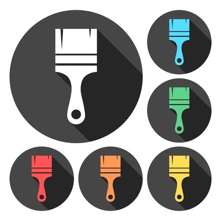 rollerbrush: Paint brush icons set