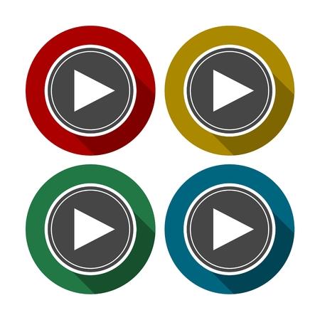 rec: Video vector icon set Illustration