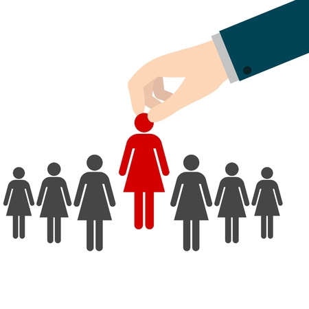 manpower: Job interview, Human Resources concept: choosing the perfect candidate for the job