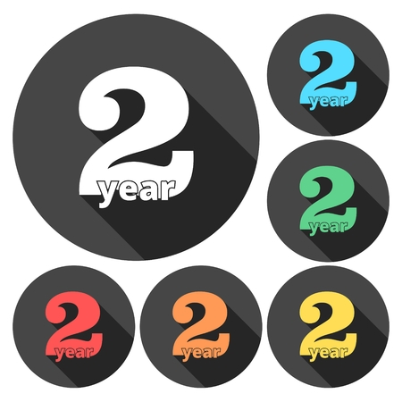 2nd: 2 years of service, 2 years, Celebrating 2 years, 2nd Anniversary - Set