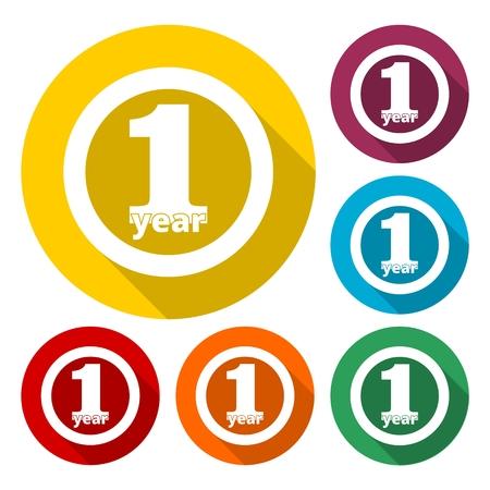 1 year: 1 year, Celebrating 1 year, 1 year Anniversary - Set