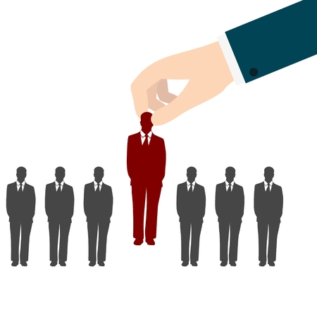 Job interview, Human Resources concept: choosing the perfect candidate for the job