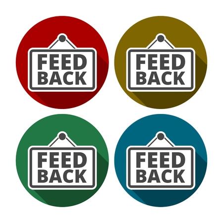 feed back: feed back Illustration