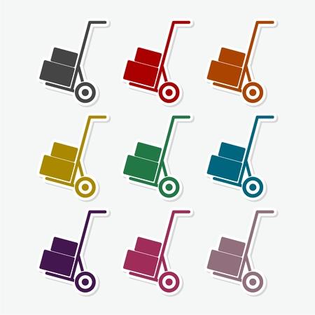 Handcart - vector icon