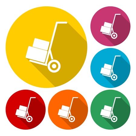 retail equipment: Handcart - vector icon