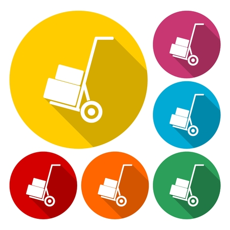 Handcart - vector icon