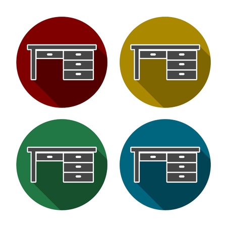 patio set: Table icons, color set