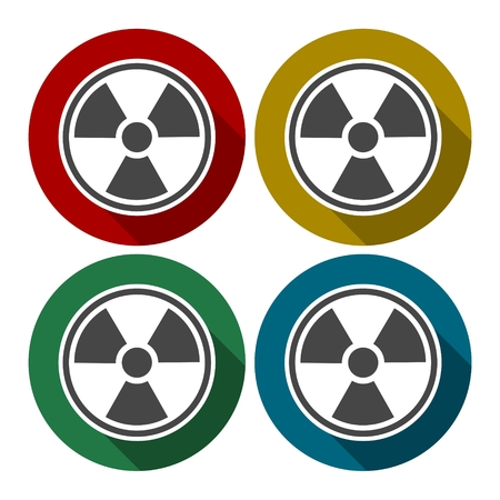 radiation sign: Radiation sign icon, Flat design