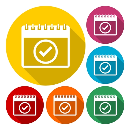 planning calendar: Planning calendar - vector icons set