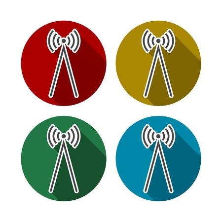wawe: Radio wave icon illustration Illustration