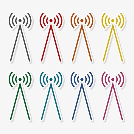 wawe: Radio wawe icon illustration