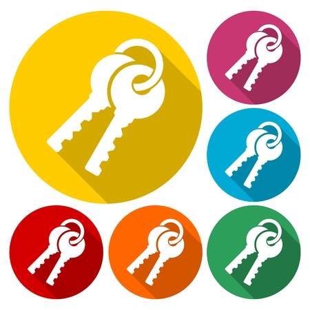 Key sign icon. Unlock tool symbol Illustration