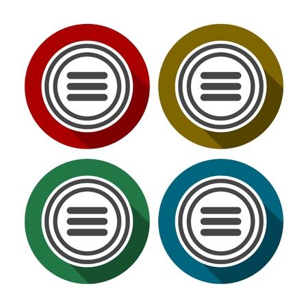 Menu, modern flat icon